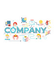 company word lettering vector image