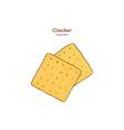 cracker hand draw sketch vector image vector image