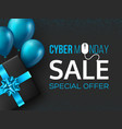 cyber monday sale poster or banner vector image vector image