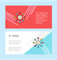 dollar network abstract corporate business banner vector image