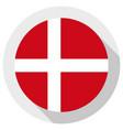 flag denmark round shape icon on white vector image