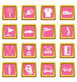 golf items icons pink vector image vector image