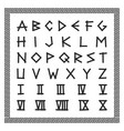 greek font english alphabet ancient latin vector image vector image