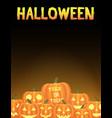halloween pumpkins card vector image