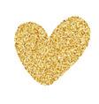 heart love gold golden design element happy vector image vector image
