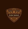 honey label vector image vector image