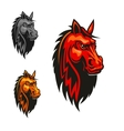Horse stallion head and mane heraldic emblem vector image vector image