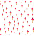 ice cream seamless pattern colorful summer vector image vector image