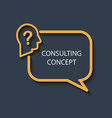Icon for a consulting concept vector image