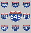 INTERSTATE SIGNS 145-945 vector image vector image