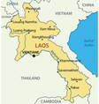 Lao Peoples Democratic Republic - map - Laos