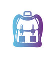 line backpack object with pockets and closures vector image vector image
