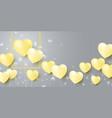 love concept design yellow heart balloons vector image vector image