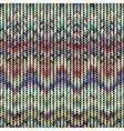Multicolor knitted pattern vector image vector image