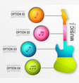 music design infographics vector image vector image