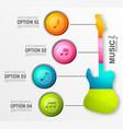 music design infographics vector image