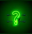 neon font letter question sign art design vector image
