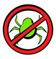 no computer virus prohibition sign icon cartoon vector image