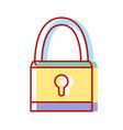 padlock object security symbol design vector image vector image