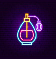 perfume neon sign vector image vector image