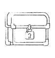 pixelated treasure chest icon vector image