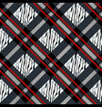 plaid tartan seamless with zebra stripes pattern vector image vector image