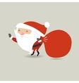 Santa Claus with big red sack Santa holding vector image