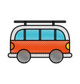 scribble car cartoon vector image vector image