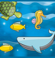 sea concept design vector image