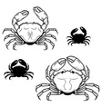 Set of crabs in vector image vector image