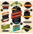 Set of premium quality labels and stickers vector image