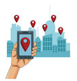 smartphone gps location vector image