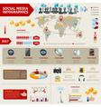 Social Media Infographics vector image vector image