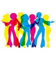 soul party time dancers funk or disco vector image vector image