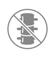 spine with prohibition sign grey icon vector image vector image