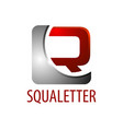 square initial letter r logo concept design 3d vector image vector image