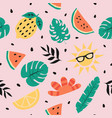 summer seamless pattern summer background vector image vector image