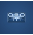 Synthesizer line icon vector image vector image