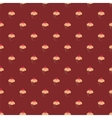 Tile pattern with cupcakes on brown background vector image vector image