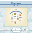 welcome baby announcement card vector image vector image