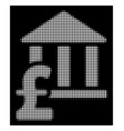 white halftone library pound payment icon vector image vector image