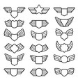 wings shields air army emblems or badges flight vector image