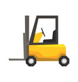 yellow forklift truck warehouse machinery vector image
