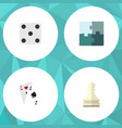 flat icon play set of ace pawn backgammon and vector image