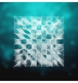 glass - cube HUD element vector image