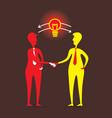 men share new idea concept design vector image