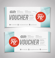 Abstract gift voucher or coupon design template vector image vector image