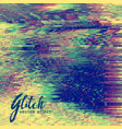 abstract glitch background design vector image
