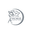abstract luxury horse symbol logo design animal