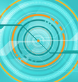 abstract tech circle technology background vector image vector image